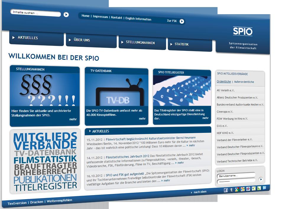 SPIO-Homepage: Content und Strukturen für den Webauftritt der SPIO