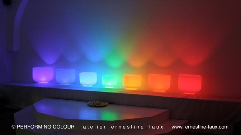 Sound of Colour by Ernestine Faux-Russ, Silizium Quarzkristall Schalen