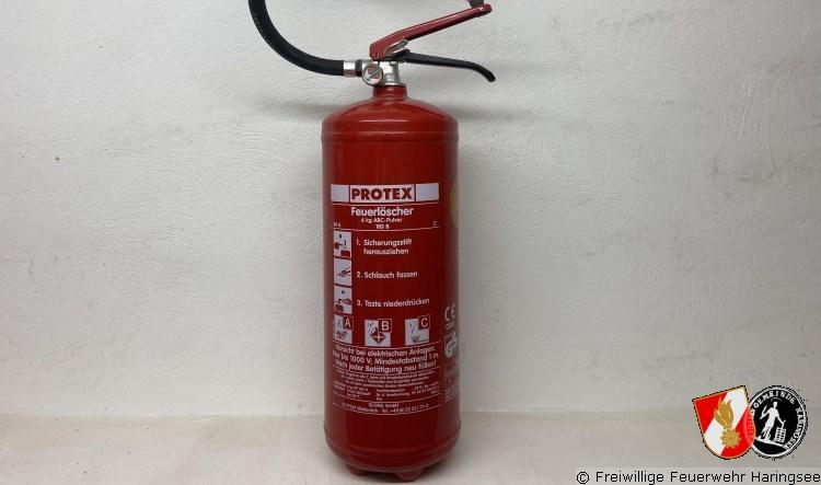 Feuerlöscher Überprüfungsaktion