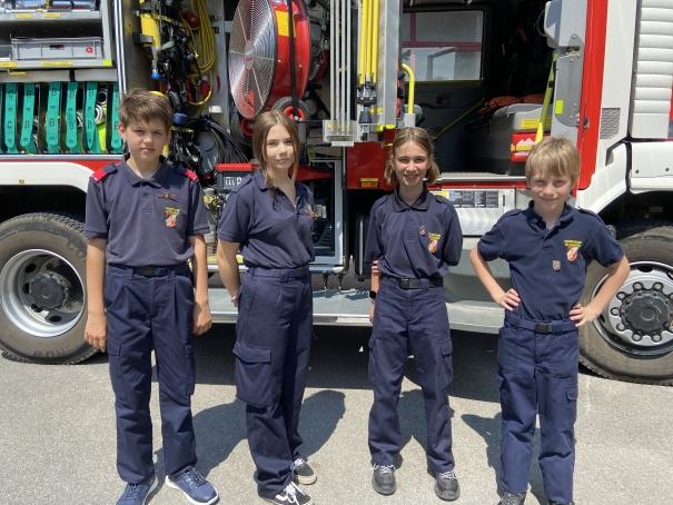 Feuerwehrjugend: Wissenstest / Wissenstest-Spiel 2021 in Haringsee