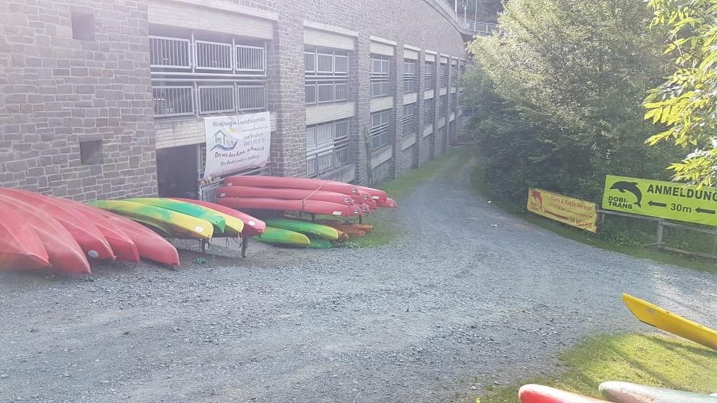 Bootsverleih im Parkhaus Innenstadt