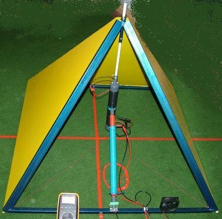 Strompyramide V12 Versuchsaufbau