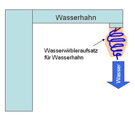 Wasserhahn Wirbler