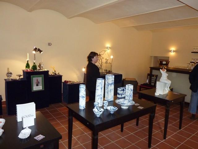 Ausstellung von Kunsthandwerk in der Remise von Aux Délices Normands