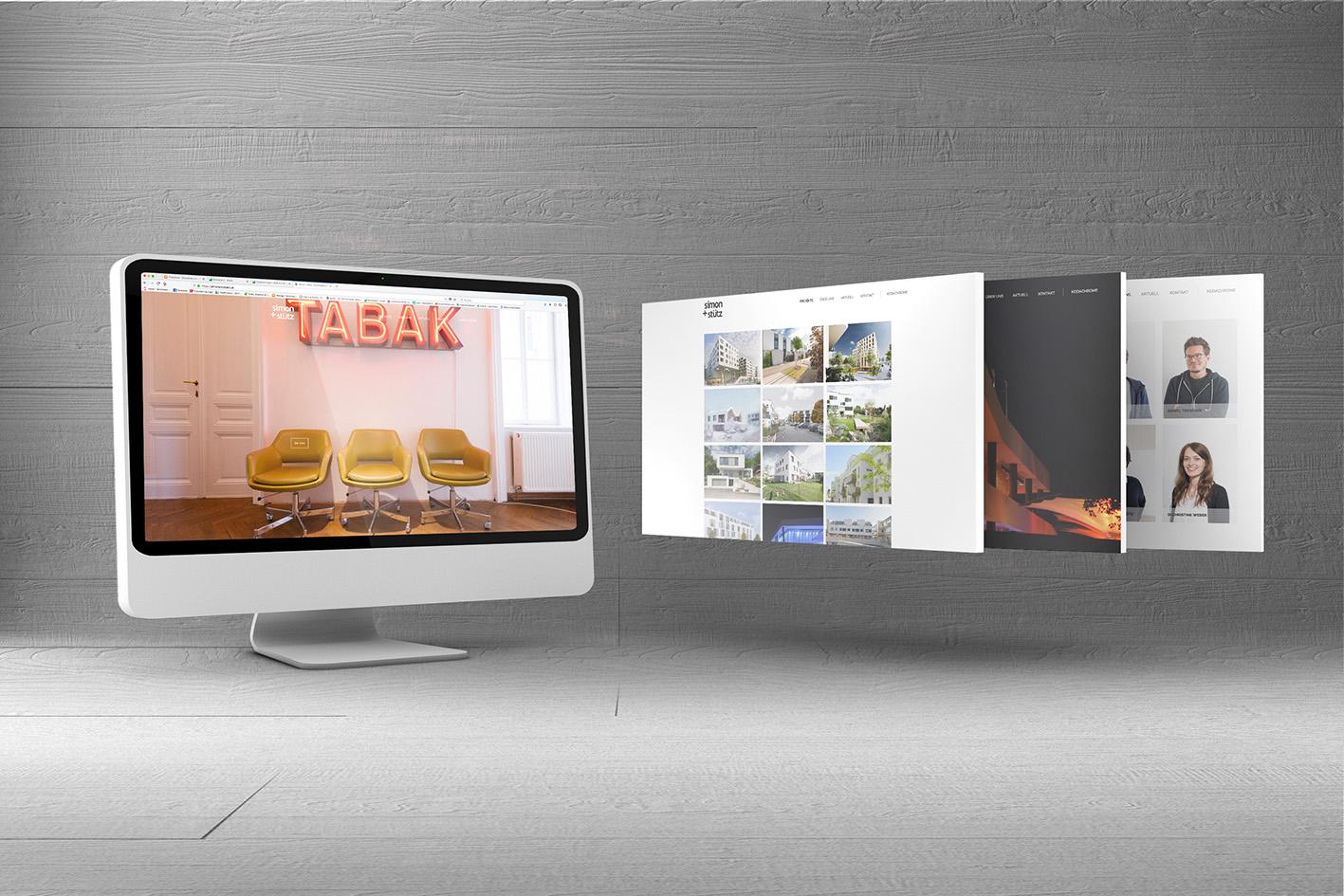 Screendesign für Simon & Stütz Architekturbüro