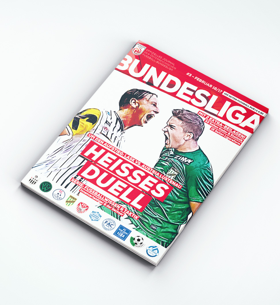 Bundesliga Journal – Ausgabe Februar 2017 / Sky Go Erste Liga Cover