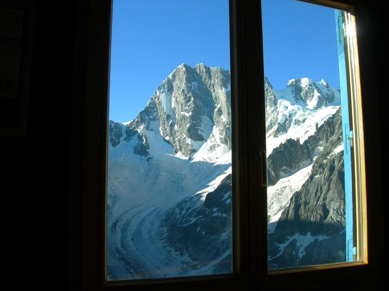 La vue depuis la salle