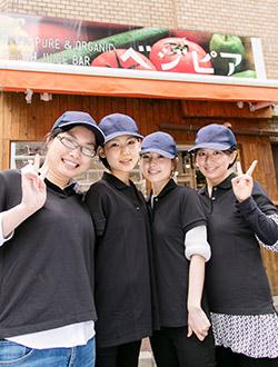 港区 ベジピア赤坂店 女性スタッフ 集合写真