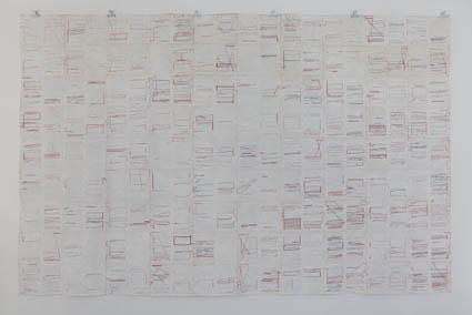 時間と記憶:Times and Memories 2002 182.5 × 279.0 cm poster-color, paper, colorpencil, ink