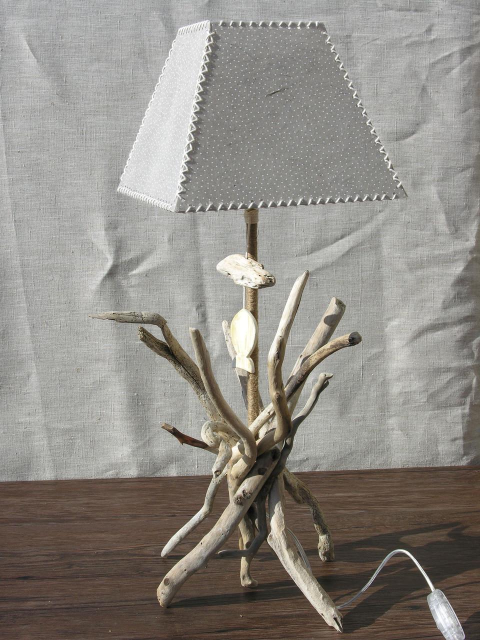 Lampe bois flotté Duchesse H.65 cm x L. 45 cm