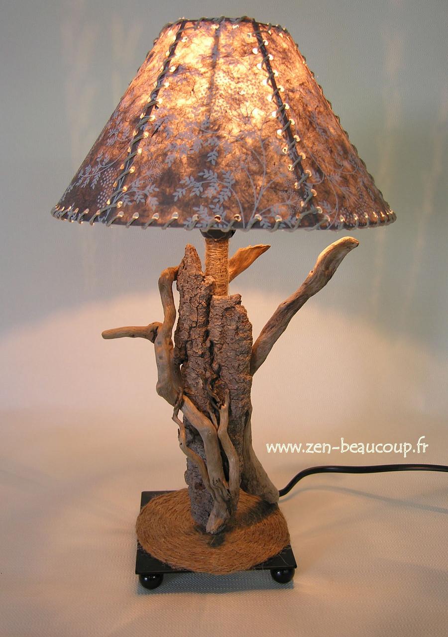 Lampe bois flotté Riverta