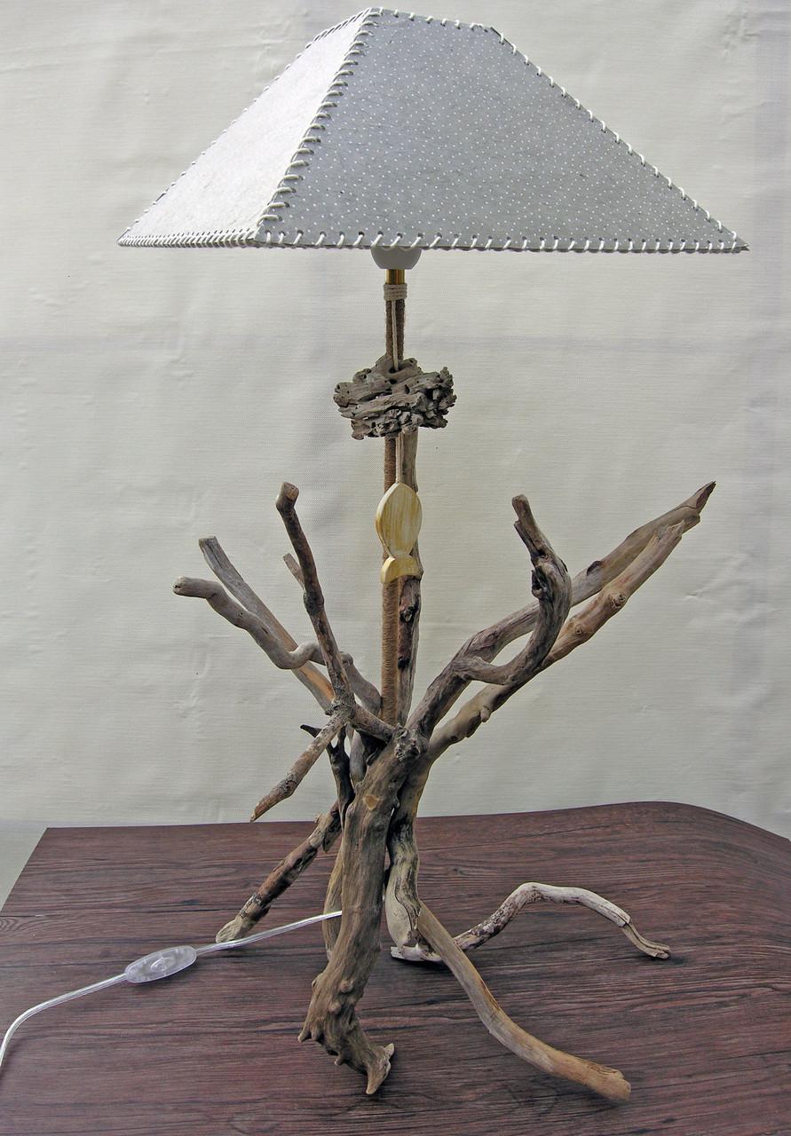 Lampe bois flotté Thalassa