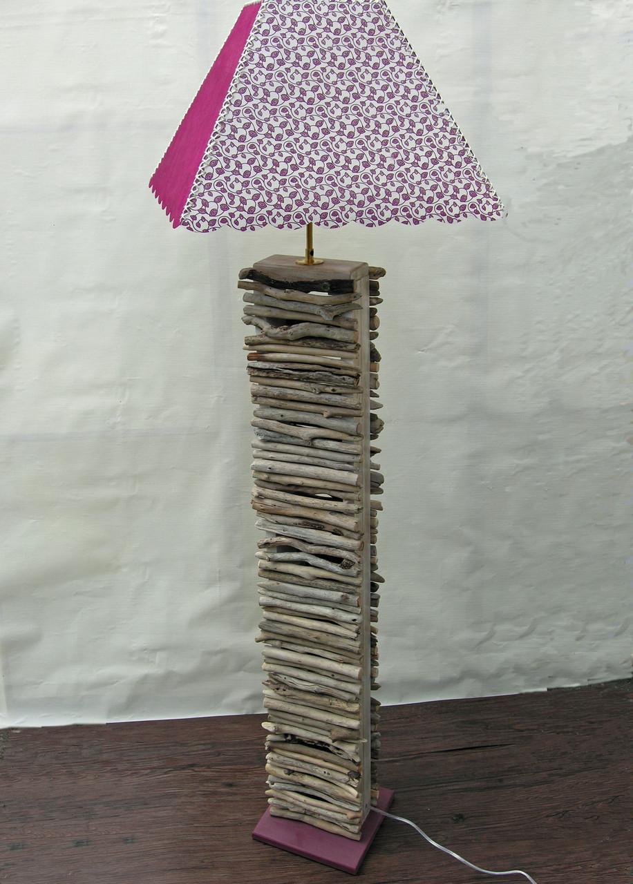 Lampadaire en bois flotté Rezé H. 140 cm x L. 41 cm