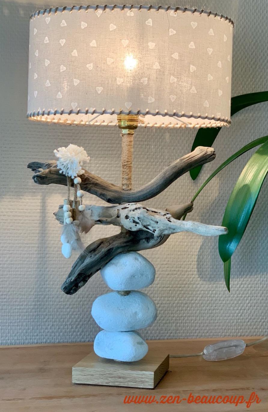 Lampe bois flotté Caline