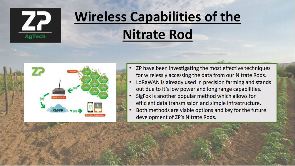 Wireless Capabilities of the Nitrate Rod