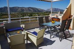 Terrasse de 24 m² vues mer et montagne