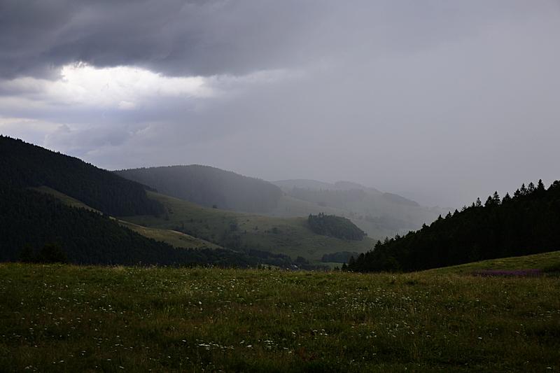 Gewitter über Bernau, Südschwarzwald