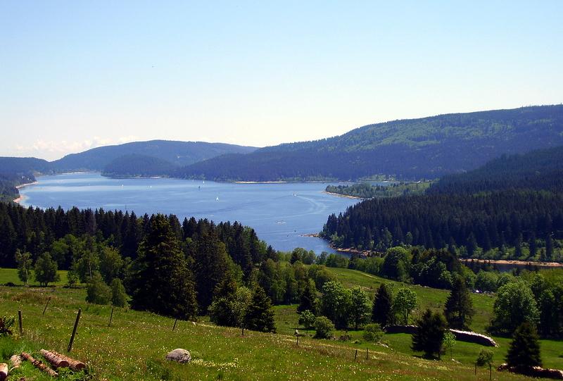 Sicht vom Lachenrütteweg über dem Schluchsee