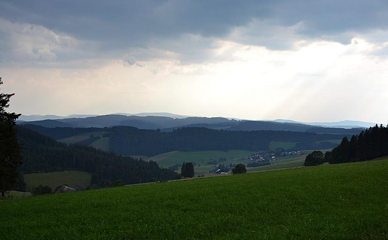 Gewitterwolken über dem Schwarzwald
