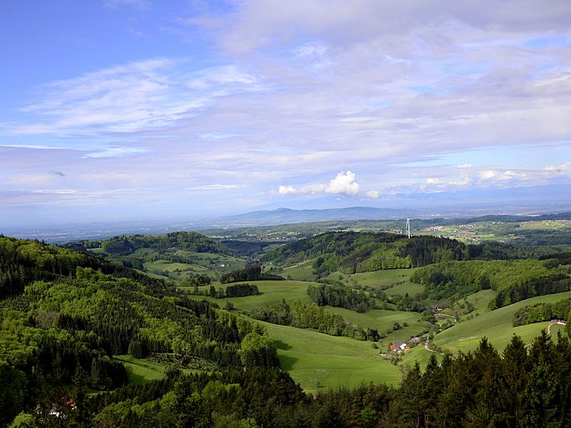 Richtung Kaiserstuhl, vom Hünersedelturm