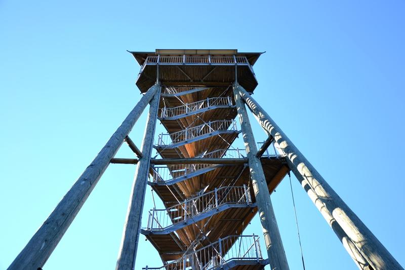 Hünersedelturm: Oberste Aussichtsplattform 25,2 m