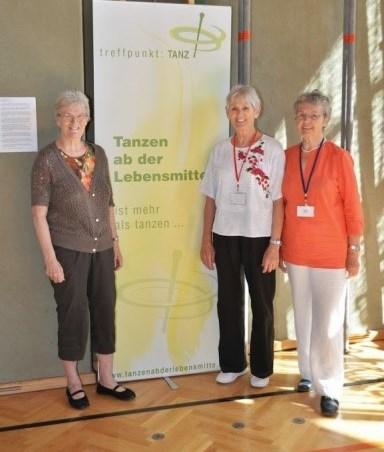 Gertraud Krinzinger (balra), Csirmaz Szilvia és Inge Pröstler