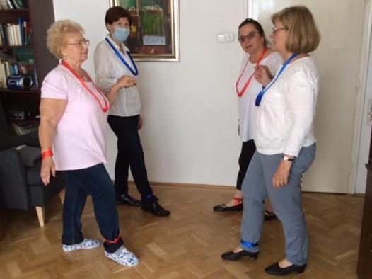 A táncokat bemutató csoport