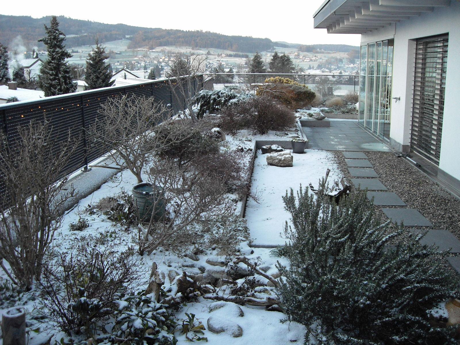 Erster Schnee am 3.1.19