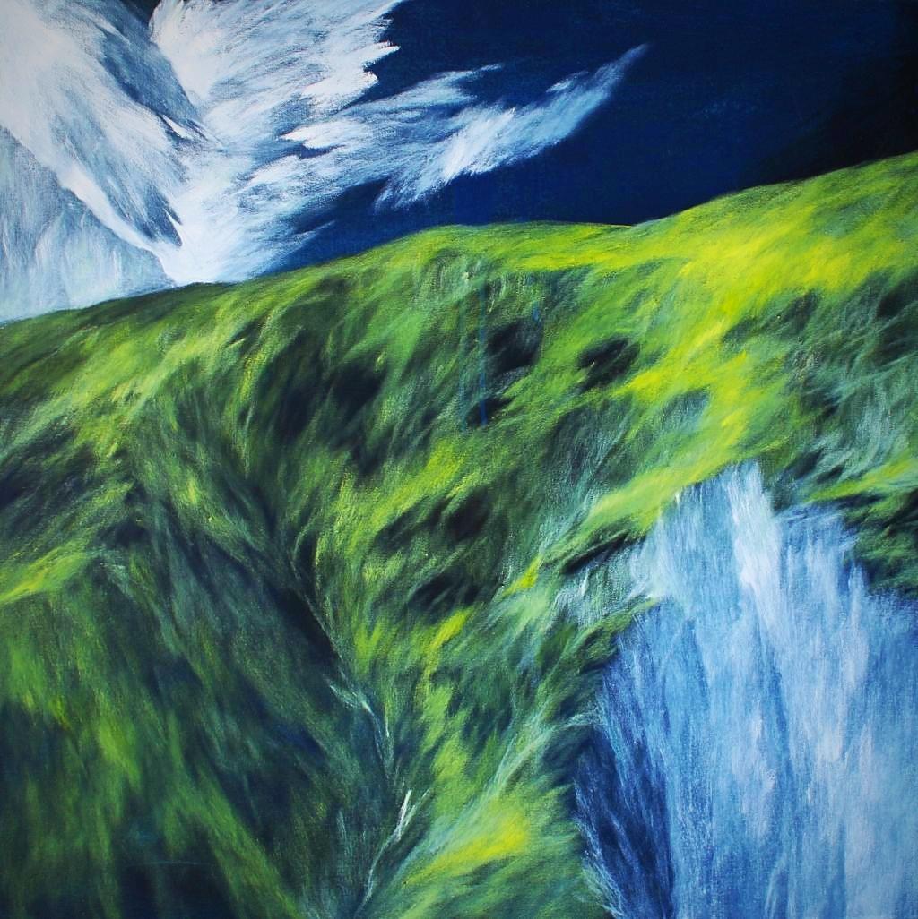 Josef Taucher, Ausbruch 4, Geburtstagsbild Nr. 27, Aug. 2017, Öl/Molino, 69 x 69 cm © Josef Taucher