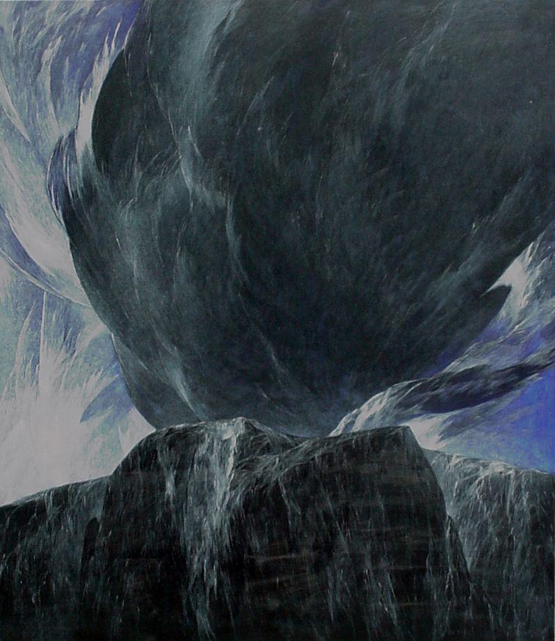 Josef Taucher, Nacht 14, 2002, Öl/Molino, 150 x 130 cm © Josef Taucher