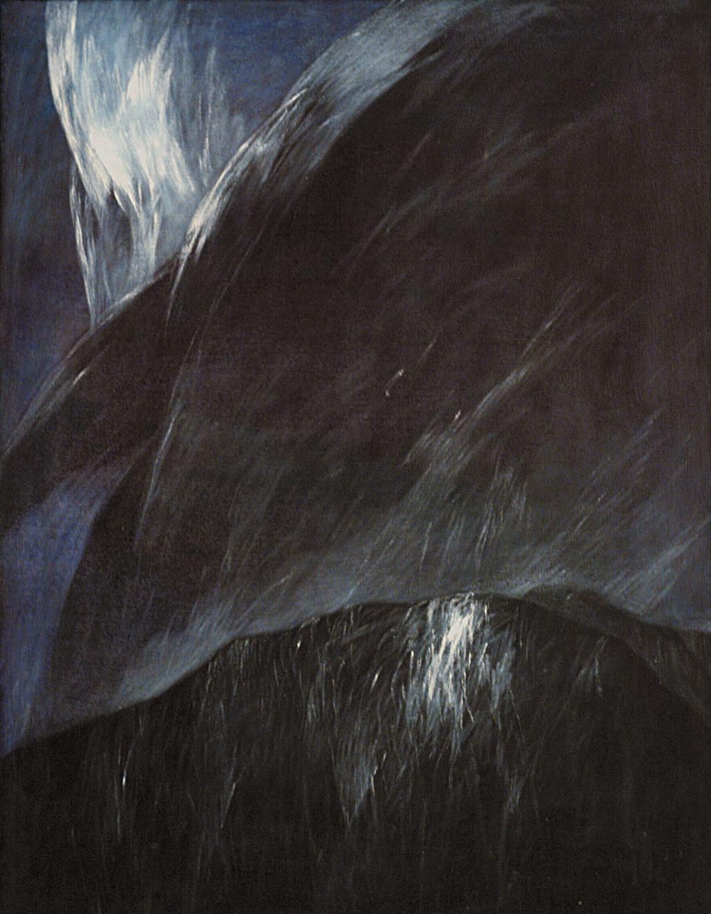 Josef Taucher, Nacht 15, 2002, Öl/Molino, 65 x 50 cm © Josef Taucher