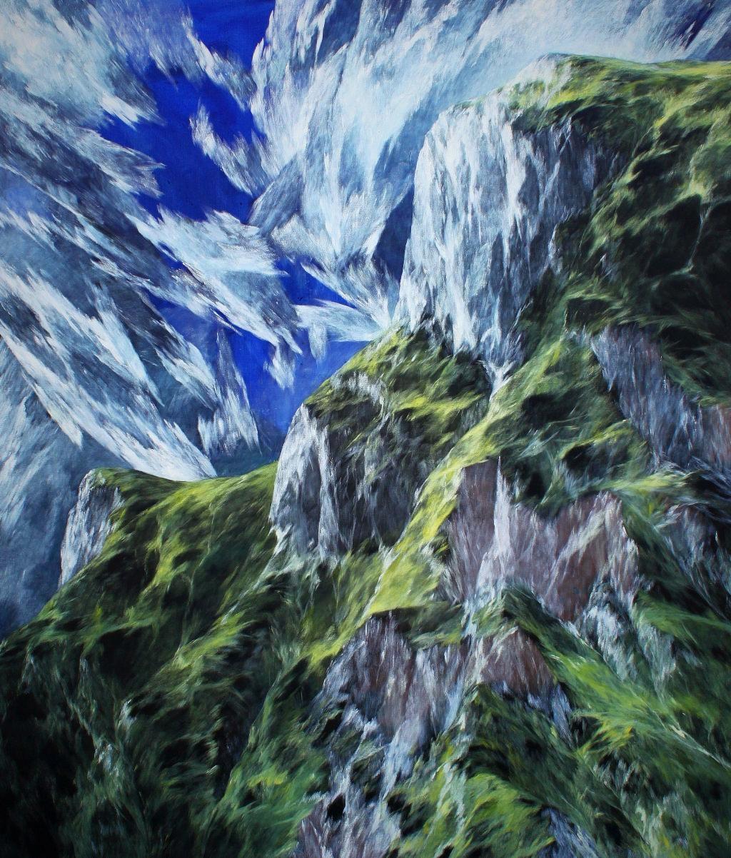 Josef Taucher, Aufwind 15, Feb. 2015, Öl/Molino, 180 x 150 cm © Josef Taucher