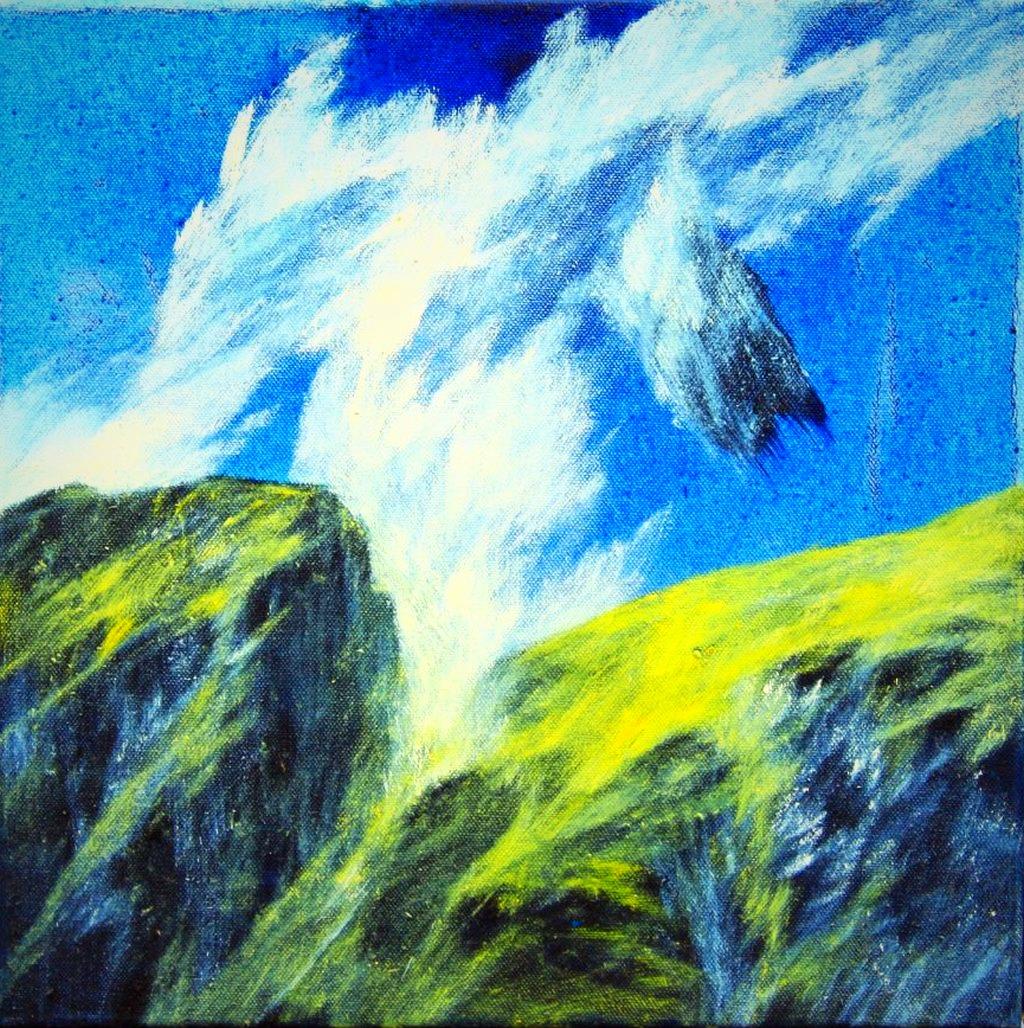 Josef Taucher, Aufwind 36, 2016, Öl/Molino, 40 x 40 cm © Josef Taucher