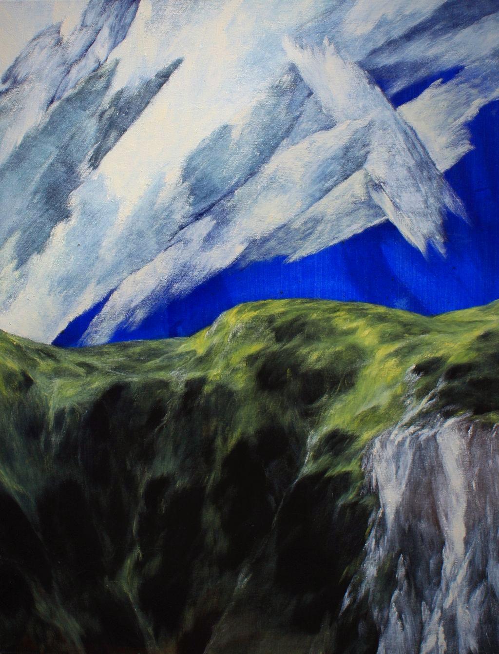 Josef Taucher, Aufwind 20, 2015, Öl/Molino, 90 x 70 cm © Josef Taucher