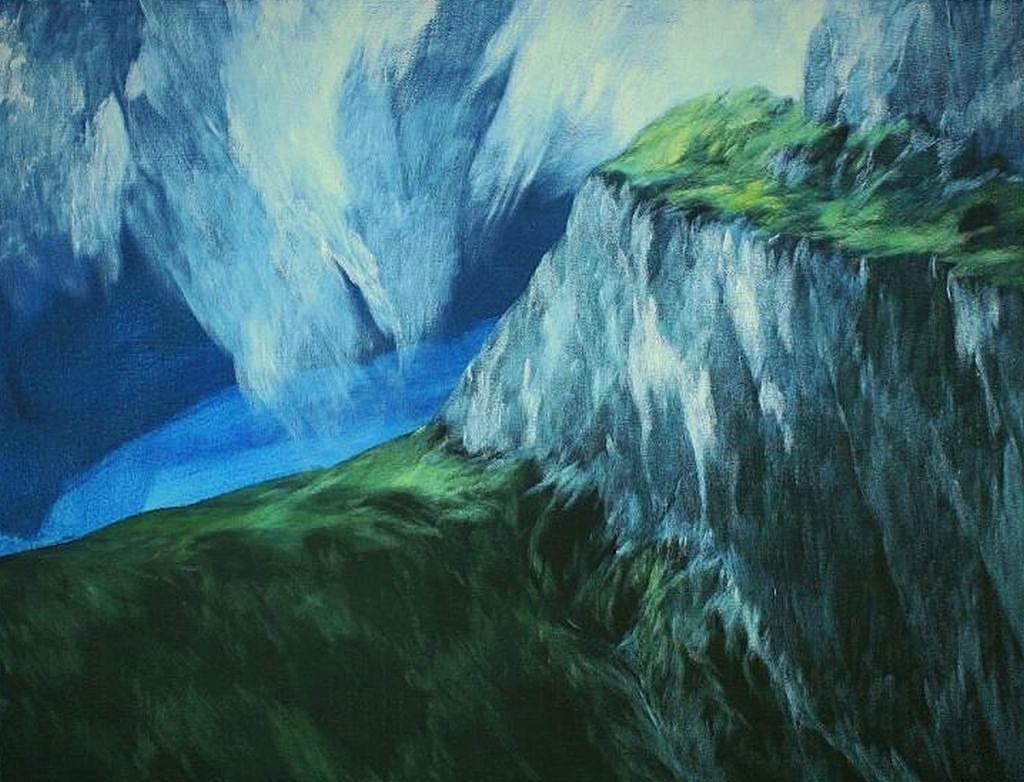 Josef Taucher, Aufwind 11, Nov. 2014, Öl/Molino, 70 x 90 cm © Josef Taucher