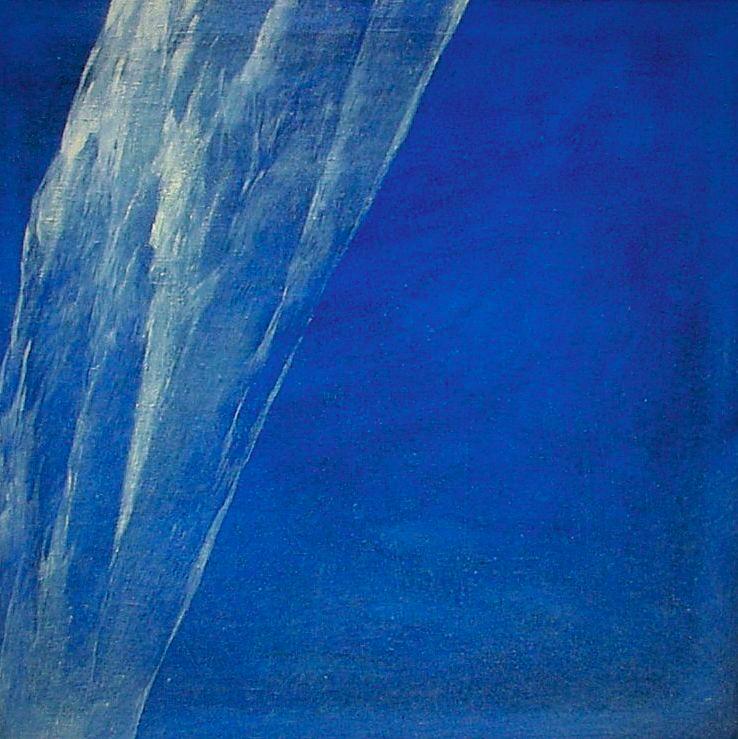 Josef Taucher, Himmel 3, Feb. 1997, Öl/Leinwand, 70 x 70 cm © Josef Taucher