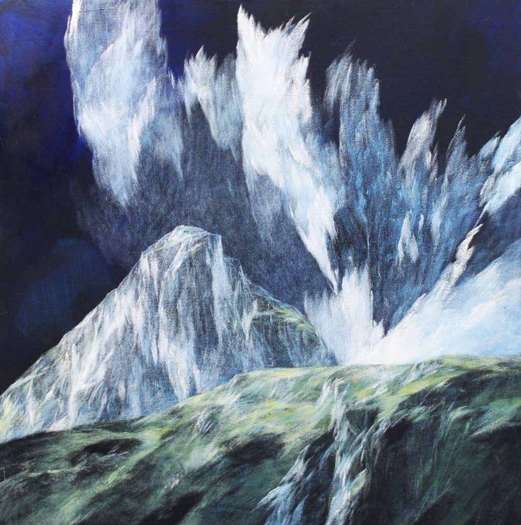 Josef Taucher, Aufwind 3, Geburtstagsbild Nr. 14, Nov. 2014,  Öl/Molino, 63 x 63 cm © Josef Taucher