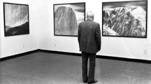 Wilfried Skreiner vor Tauchers Bergmalerei, Personale Steirischer Herbst 1981