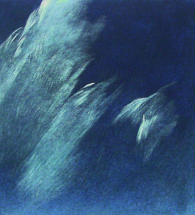 Josef Taucher, Himmel 12, 2001, Öl/Molino, 52 x 48 cm © Josef Taucher
