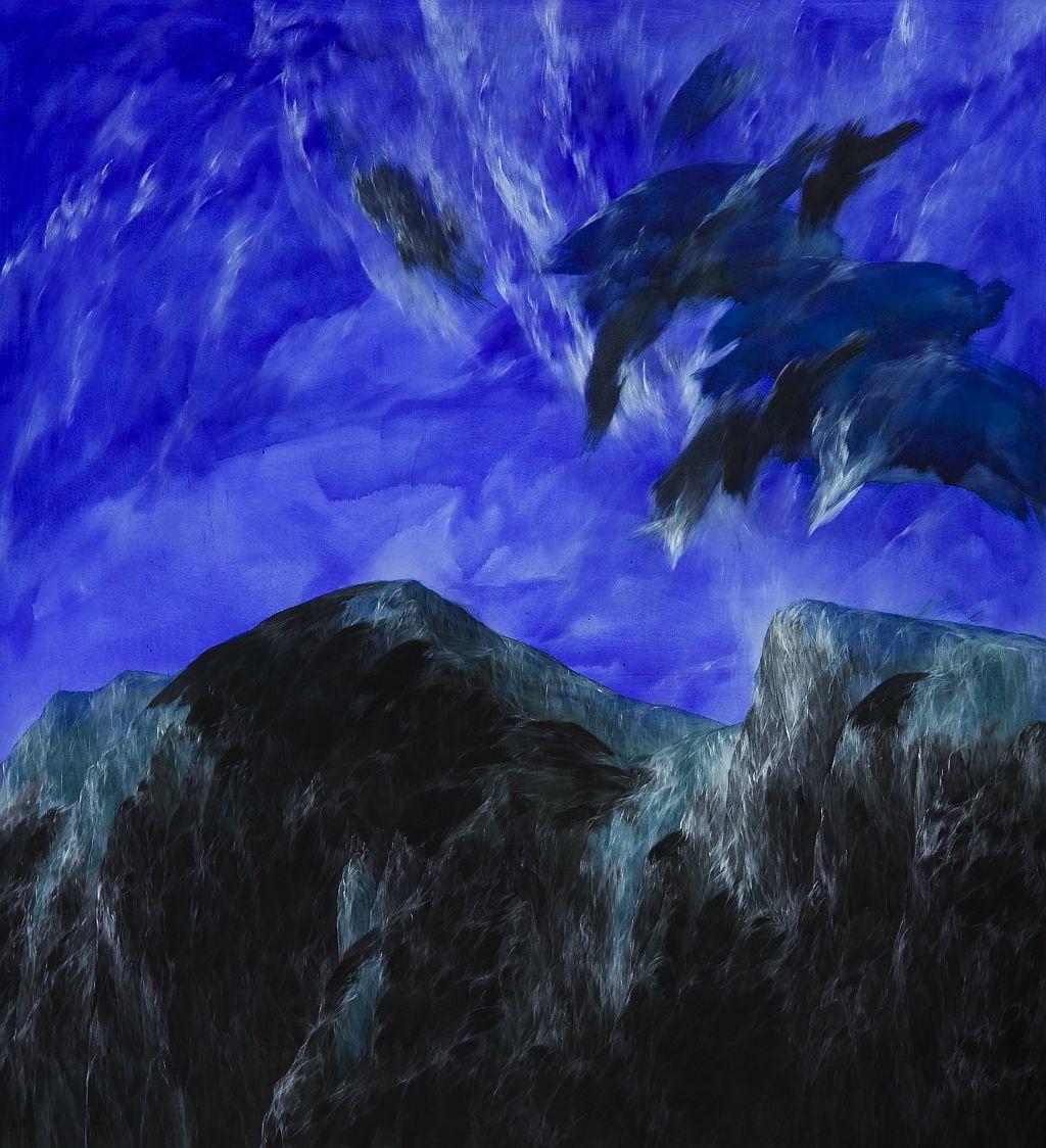 Josef Taucher, Zwielicht 7, 2004, Öl/Molino, 176 x 155 cm, Foto: W. Krug