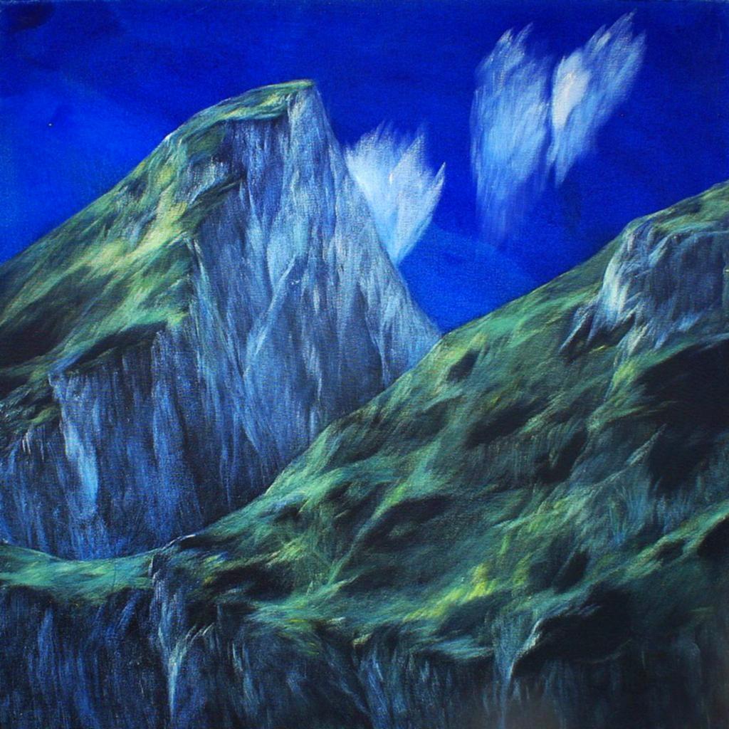 Josef Taucher, Aufwind 7, Geburtstagsbild Nr. 15, Nov. 2014, Öl/Molino, 62 x 62 cm © Josef Taucher