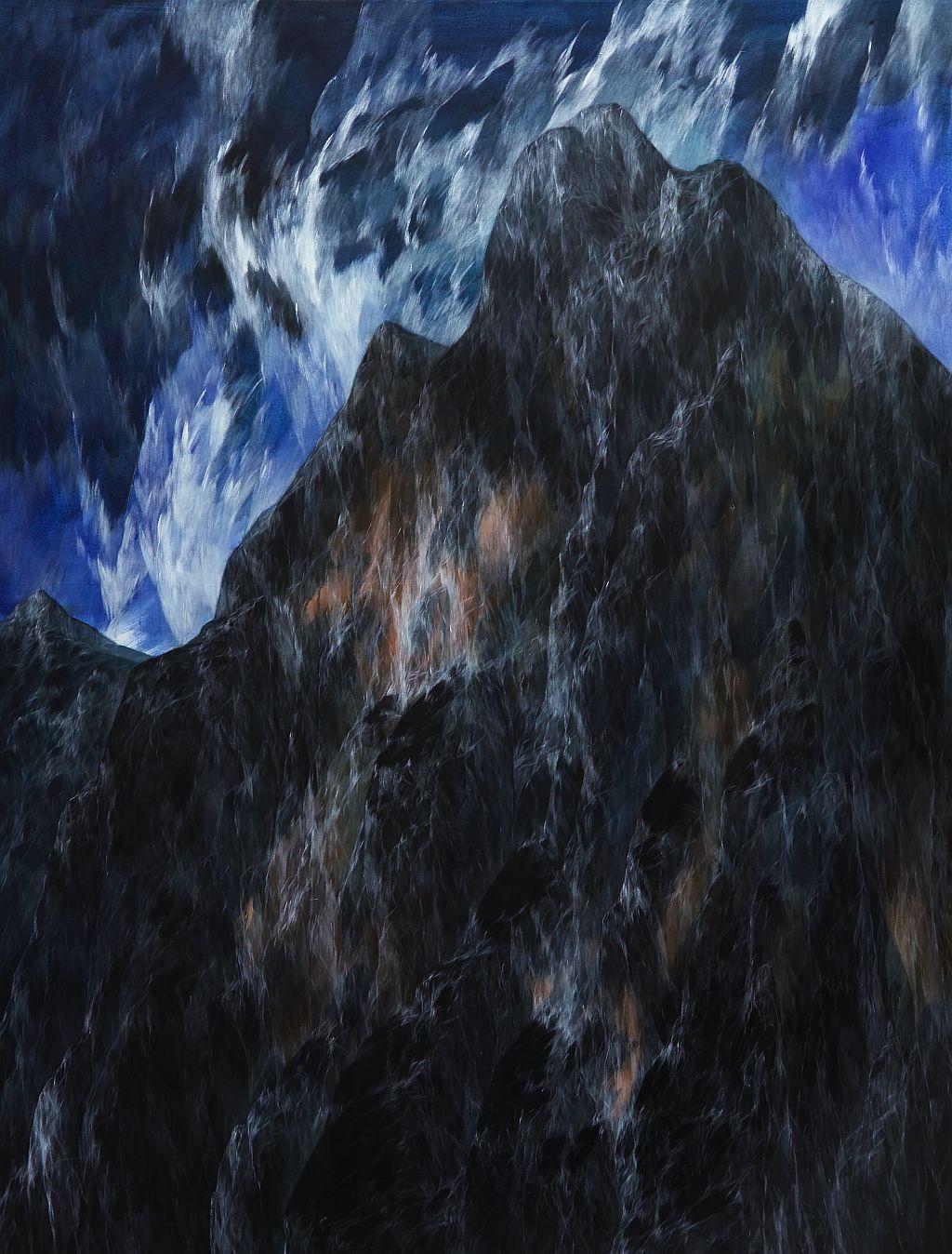 Josef Taucher, Zwielicht 6, 2004, Öl/Molino, 200 x 150 cm, Foto: W. Krug