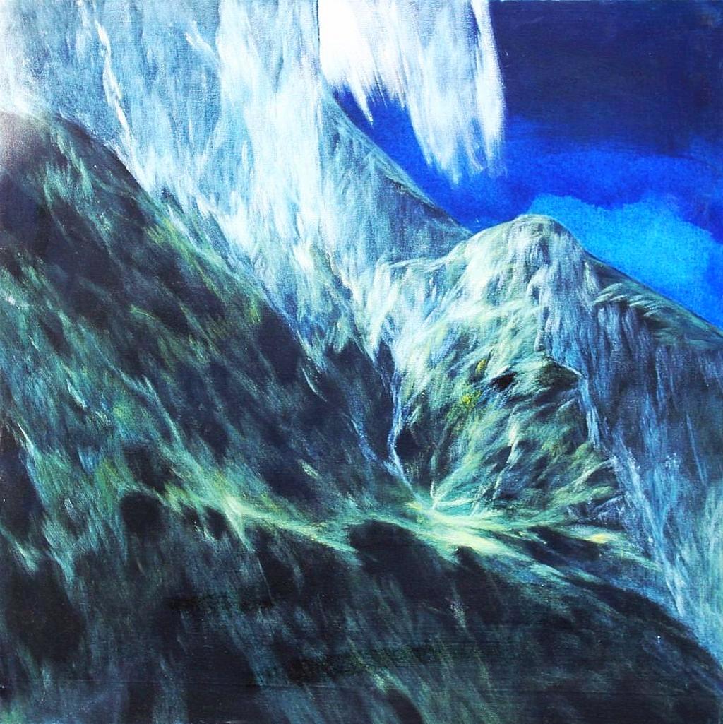 Josef Taucher, Aufwind 6, Geburtstagsbild Nr. 17, Nov. 2014, Öl/Molino, 65 x 65 cm © Josef Taucher