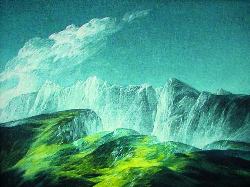 Josef Taucher, Abgrund LXVIII, 1983, Öl/Molino, 50 x 65 cm © Josef Taucher