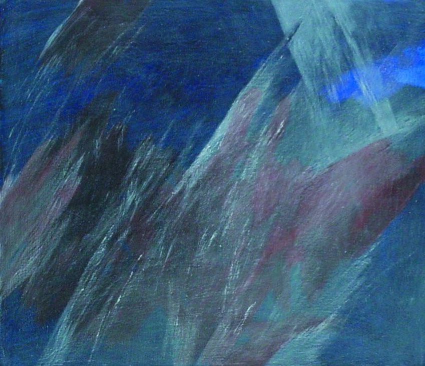 Josef Taucher, Himmel 16, 2002, Öl/Molino, 34 x 40 cm © Josef Taucher