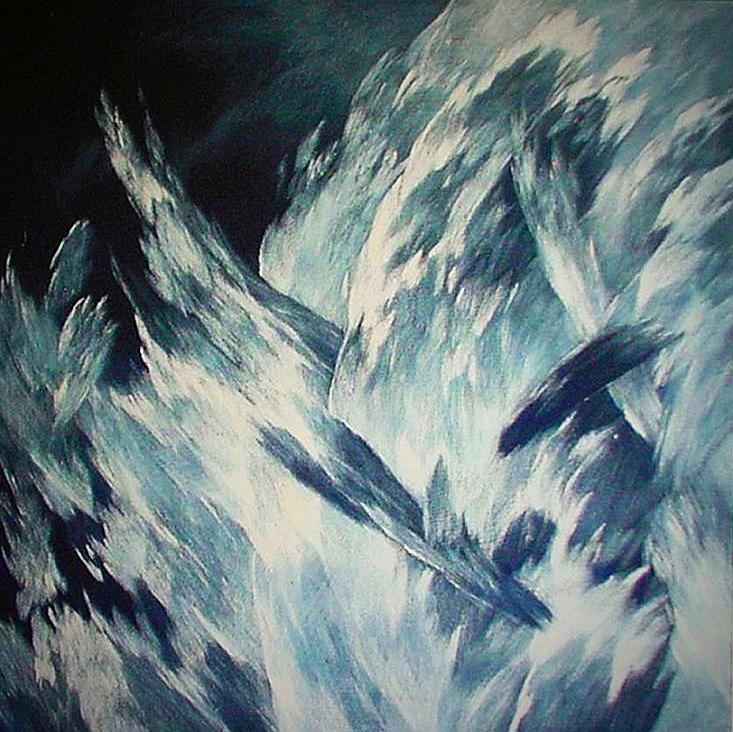 Josef Taucher, Himmel 26, 2005, Öl/Molino, 57 x 57 cm © Josef Taucher