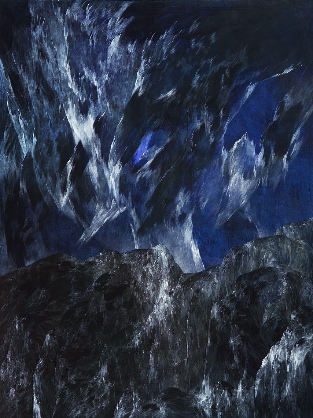 Josef Taucher, Zwielicht 5, 2004, Öl/Molino, 200 x 150 cm, Foto: W. Krug