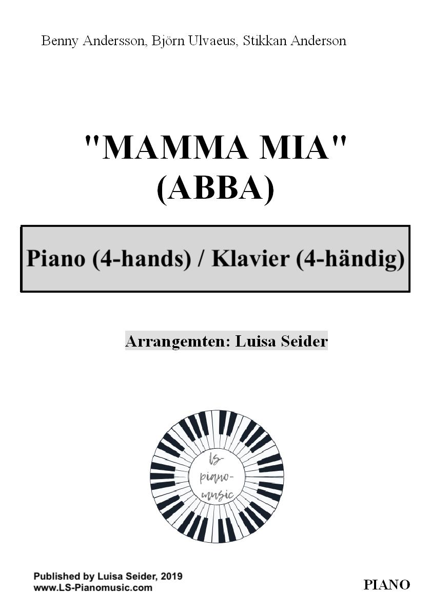 Mamma Mia (ABBA) für Klavier 4-händig