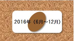 2016年(6月~12月)