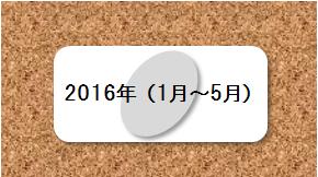 2016年(1月~5月)